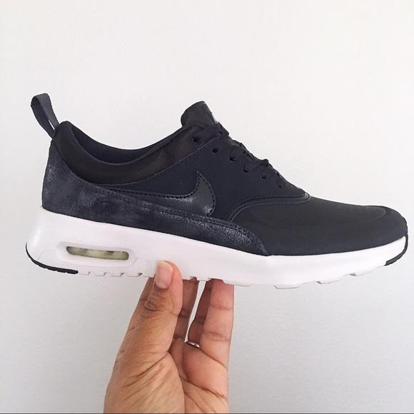 6d3e6751230f99 Nike Air Max Thea Premium Black Oil Grey Metallic